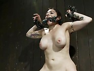Explicit Tied And Clothespins Torture For Dark Haired Gal