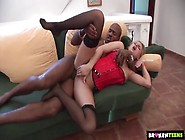 Corset On A Curvy Slut With Bbc In Her Asshole