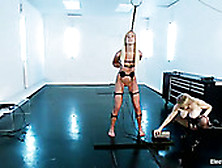 Slender Blonde Maia Under Electro-Control In Torture Room