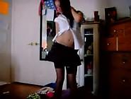 Naughty Crazybatge Teen Sex In Striptease Video