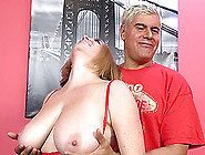 Maggie Green's Giant Tits Bounce As She Gets On That Cock