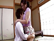 Mature Japanese Gets Her Ass Kissed