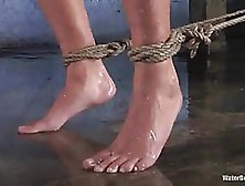 Kinky Guy Is Torturing His Beautiful Sex Slave In His Basement,
