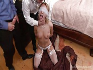 Blindfolded Slut Takes Cocks Every Which Way
