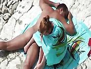 Voyeur Tapes Couple Fucks On The Beach