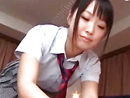 Skillful And Cute Japanese Teen Is Doing Unforgettable Handjob