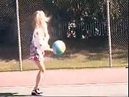 One Legged Girl Having Fun