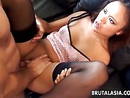 Asian Gal Annie Cruz Receives It In Her Anus And Muff Pie
