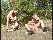 Intense Family Outdoors Gang Bang