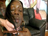 Black Ho With A Big Clit Gets Throated