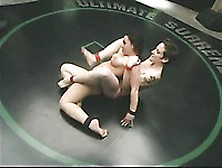 Nina And Jenya Wrestle And Try Their Hardest To Access Each Othe