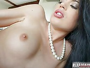 Dark Haired Beauty With Blue Eyes,  April Blue Got Fucked Until S