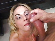 Sindy Lang Gets Her Face Drenched With Thick Cock Juice