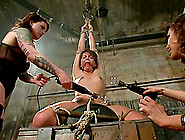 Lovely Babe Strapon Fucked After Toying Torture And Bondage By T