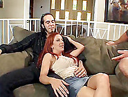 A Redheaded Milf Cuckolds Her Husband While Getting Some Younger