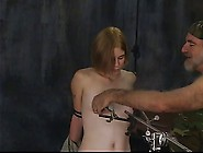 Sexy Blonde Soldier Girl With Great Tits Has Her Nipples Torture