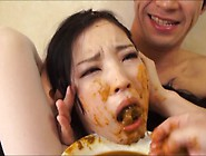 Japanese Teen Mouth Packed With Own Shit