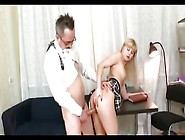 Headmaster Samples Schoolgirl's Cunt And Fucks Her Hard