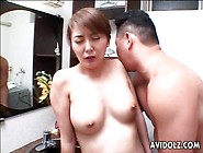 Hairy Japanese Milf Pussy Licked In Bathroom