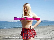 Busty Teen Kirsten Masturbating