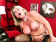 Mature Fat Blonde In Black Stockings