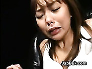 Japanese Slave Eats Cum From Pussy Hair After Bukkake