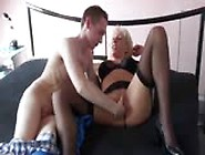 Blonde Hot Mama Enjoys Her Son Big And Long Cock While Sucking B
