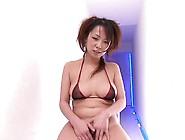 Nippon Hd - Teen In Bikini Oils Up Her Hairy Pussy