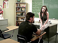 A Sexy College Teacher Seduces Her Student And Fucks Him In The