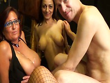 British Amateurs- Two Big Tit Milfs 69 A Guy And He Wanks/cums O