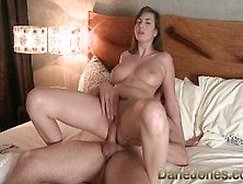 Big Breasted Brunette Orgasms Through Intimate Sex With Her Love