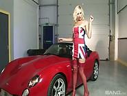 Slut In Red Lingerie Jenny Glam Sucks Two Dicks In The Car