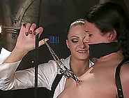 Nasty Brunette Gets Her Cunt Toyed To Orgasm In Bdsm Clip