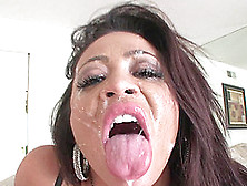 Amazing Asian Dame Giving Her Guy Superb Blowjob Before Swallowi