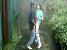 Indian Desi College Girl Fucking Outside Hostel With Boyfriend