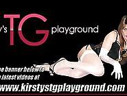 Horny Crossdresser Kirsty Wanks Her Big Cock In Virgin White Lin