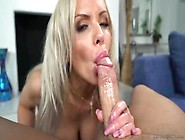 Cum-Thirsty Big-Boobed Blondie Gives Pov Blowjob On Peter North