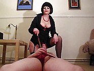 Mistress Polly Punishes Sissy Slave And Makes Him Milk