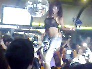 Sexy Chick Dancing Topless In Bar