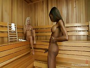 Blonde Lady Gets A Chocolate Ladyboy