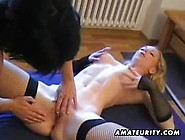 Two Amateur Lesbians Eat And Toy Pussies