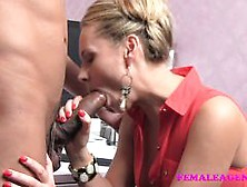 Hot Babe Slobbers Over This Hard Cock