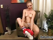 Young Blonde Slut Teasing Her Body
