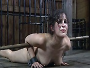 Dirty Slut Marina Gets A Stick In Her Ass Hole While Being Restr