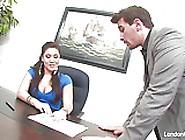 Asian Hottie London Keyes Gets An Office Fuck