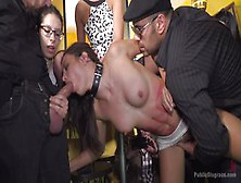 Tied-Up And Fucked By Strangers In Public