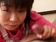 Twosome Adorable Innoncent Asian Teens Playing Surrounding The C