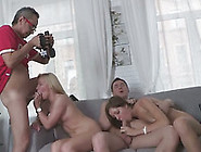 Two Amazing Teens Get Fucked Hard In A Foursome Sex Video