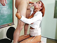 Attractive Redhead Teacher Vronica Avluv With Big Juicy Tits And