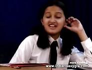 Horny Hot Indian Pornstar Babe As School Girl Squeezing Big Boob